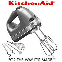 Миксер ручной KitchenAid 5KHM9212ECU серебристый