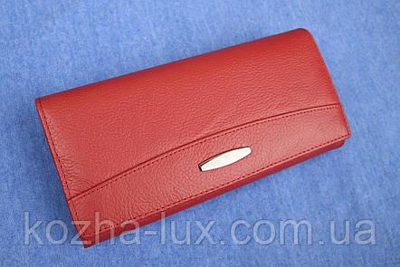 Кошелек женский кожаный темно красный, натуральная кожа, фото 2