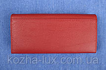 Кошелек женский кожаный темно красный, натуральная кожа, фото 3