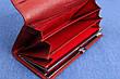 Кошелек женский кожаный темно красный, натуральная кожа, фото 4