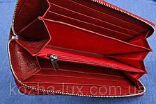 Кошелек на молнии женский кожаный, натуральная кожа, фото 3