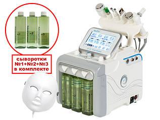 Профессиональный косметологический аппарат для гидропилинга с LED маской 7-в-1 модель 254