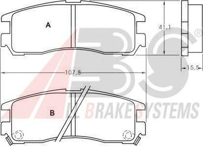Колодки тормозные MITSUBISHI GALANT/PININ/SPACEWAGON задние (ABS). 36690