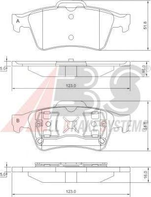 Колодки тормозные RENAULT/SAAB/VOLVO задние (ABS). 37216