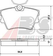 Колодки тормозные VW TRANSPORTER 15 задние (ABS). 36983