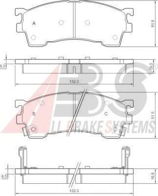 Колодки тормозные FORD/MAZDA 323/626/MX6/XEDOS 6 передние (ABS). 36795