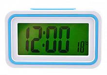 Говорящие настольные часы Kk-9905tr с подсветкой, blue вставка