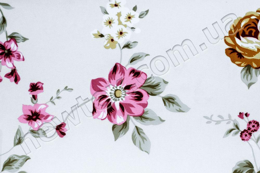 Ролеты тканевые открытого типа Болгарская роза
