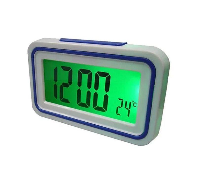 Говорять настільні годинники Kk-9905tr з підсвічуванням, dark blue вставка