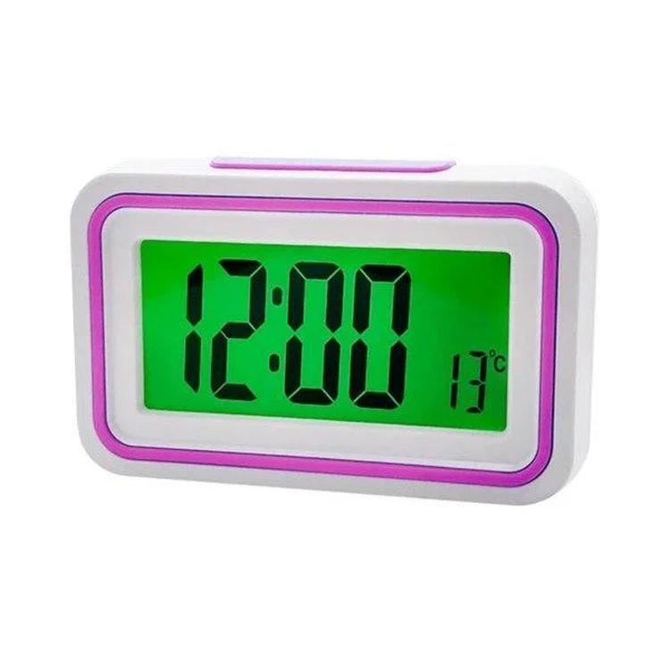 Говорящие настольные часы Kk-9905tr с подсветкой, pink вставка