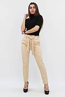S, XL / Жіночі брюки з пояском Kosmo, бежевий