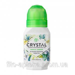 Натуральный роликовый дезодорант Кристалл с экстрактами ванили и жасмина, 66 мл (США)