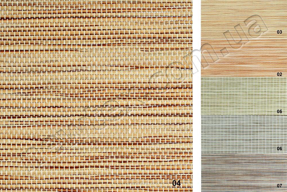 Ролеты тканевые открытого типа Шикатан (6 цветов)