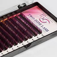 Ресницы на ленте «Два тона» фиолетовые Mix, i-Beauty