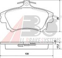 Колодки тормозные MITSUBISHI/VOLVO CARISMA/S40/V40 передние (ABS). 37020