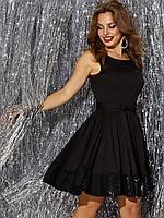 Маленькое чёрное платье из джерси с пышной юбкой