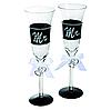 """Набір келихів для шампанського """"Mr. & Mrs."""""""