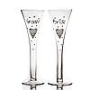 """Набір келихів для шампанського """"Наречений і наречена"""" в подарунковій упаковці 300 мл"""