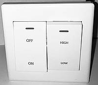 Переключатель скорости оборотов вентилятора SW 2 двухклавишный
