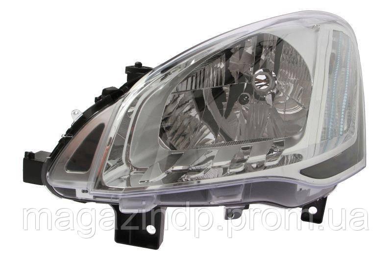Фара передняя Citen Berlingo/Peugeot  2012- левая електр. + мотор H4/PY21W/W5W 552-1141LMLD-EM Код товара: 3681791