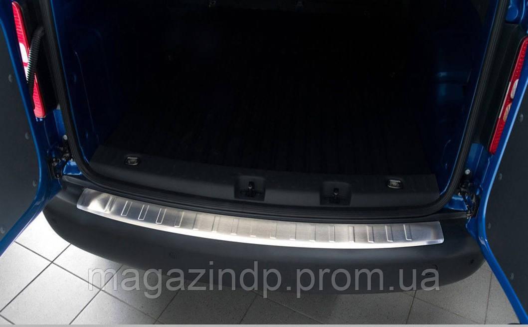 Накладка на задний бампер Volkswagen Caddy 2003-,FL 2015-/Caddy MAXI 2007-, полированная  35684 Код товара: 3728539