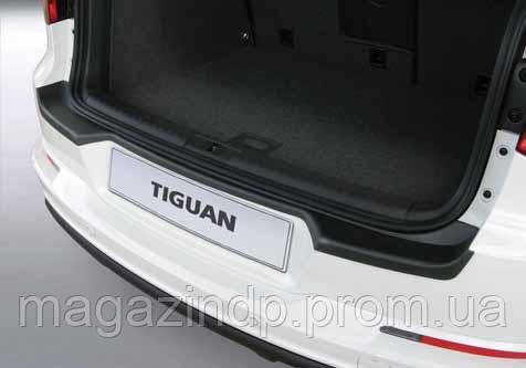 Накладка на задний бампер Volkswagen Tiguan 08-16, ABS-пластик RBP445 Код товара: 3728600