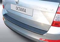 Накладка на задний бампер  Octavia A7 Combi 13-, ABS-пластик RBP610 Код товара: 3728632, фото 1