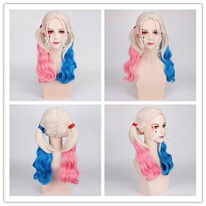 Длинные парики Харли Квинн - 60см, волнистые волосы без челки, косплей Отряд самоубийц, анимэ, фото 2