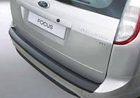 Накладка на задний бампер Ford Focus II Combi 2004-2011, ABS-пластик Код товара: 3728679