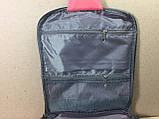 Дорожный органайзер косметичка с крючком Fozo Travel 23*22*6 коралловый, фото 4