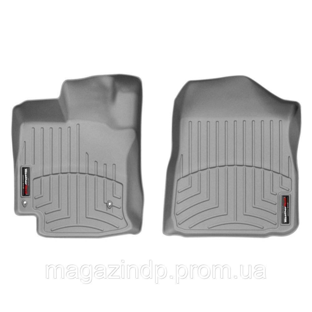 Коврики в салон для Toyota Venza 2008-12 с бортиком передние серые 461831 Код товара: 3732301