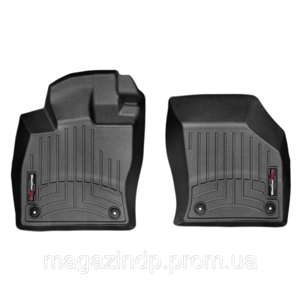 Коврики в салон для Volkswagen Golf VII 2013- коврик резиновый с бортиком черный передние 444961 Код товара: 3732312