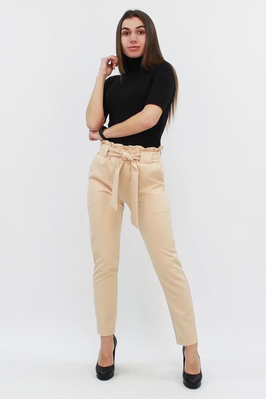 S, M, L, XL / Жіночі брюки з пояском Kosmo, бежевий