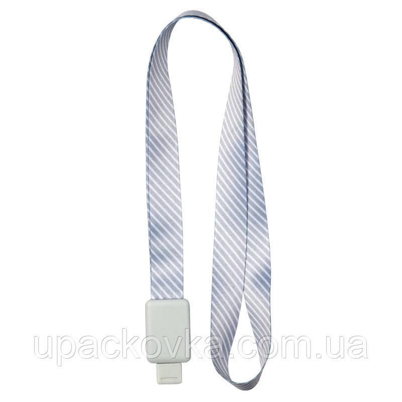 Шнурок для бейджа Axent Office 4560-28-А, с ретрактором, серая полоса