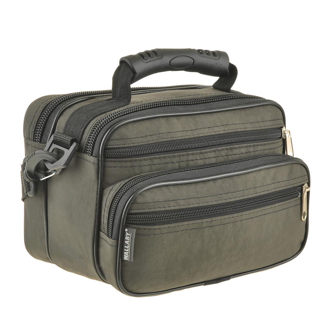 Чоловіча сумка Wallaby 24х17х15 горизонтальна колір хакі, тканина «Кордура» в21231х