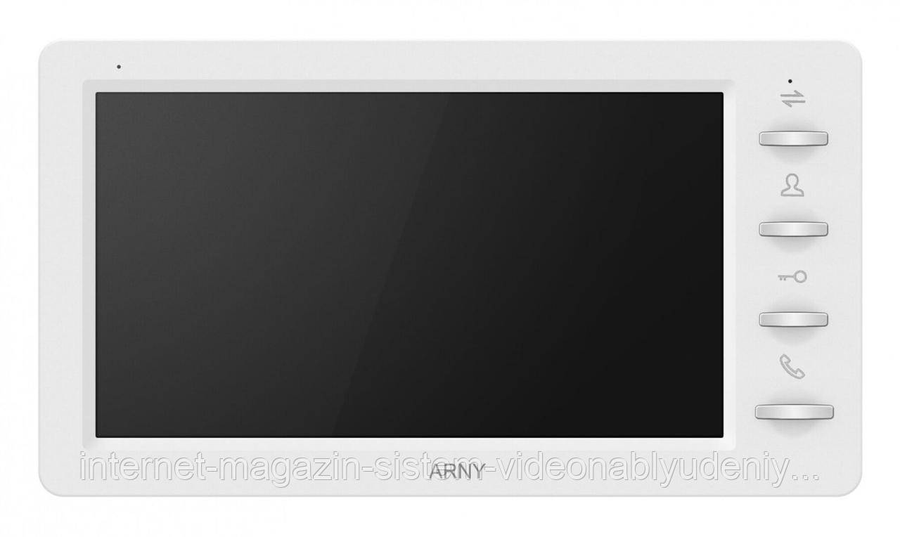 Комплект видеодомофона ARNY AVD-7030 1MPX IPS 7''  Белый / Коричневый (arny-000140)