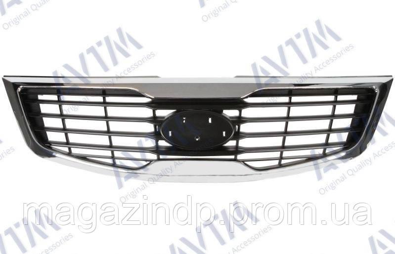 Решетка радиатора Kia Sportage 2010-2015 с рамкой металик (Silver) Код товара: 3800069