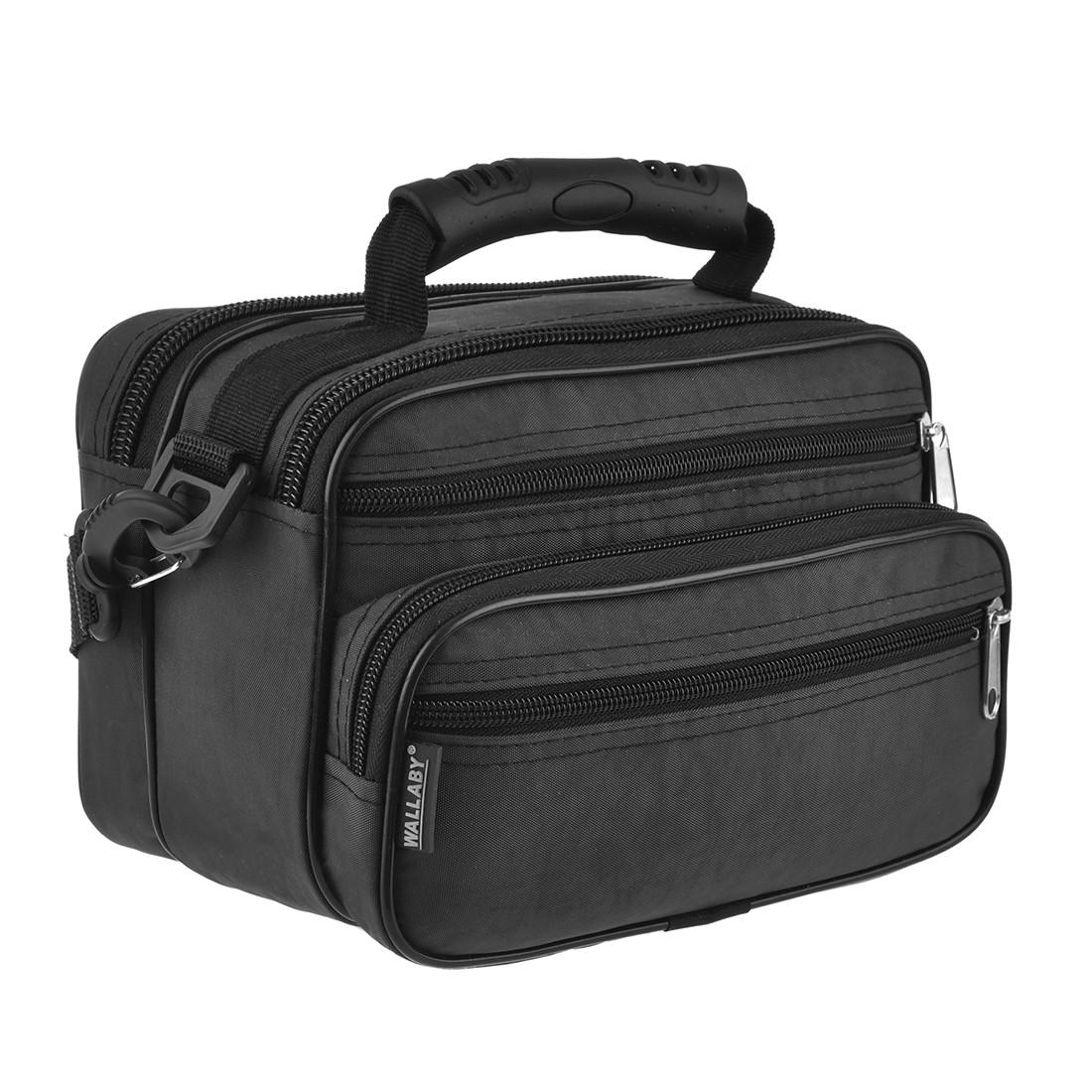 Чоловіча сумка Wallaby 24х17х15 горизонтальна тканина «Кордура», колір чорний в21231ч