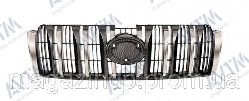Решетка радиатора Toyota Prado (j150) 2010-2013 хром.черн. Код товара: 3800111