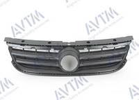Молдинг решетки радиатора Volkswagen Touareg 2007-2009 черн.верхн. (внутр.часть) Код товара: 3800118
