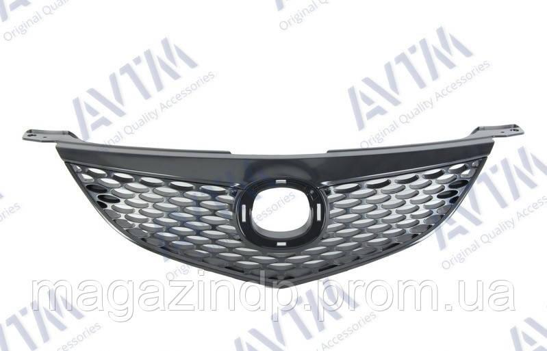 Решетка радиатора Mazda 3 Sd 2003-2006 с накладкой черн. 183476990 Код товара: 3800150