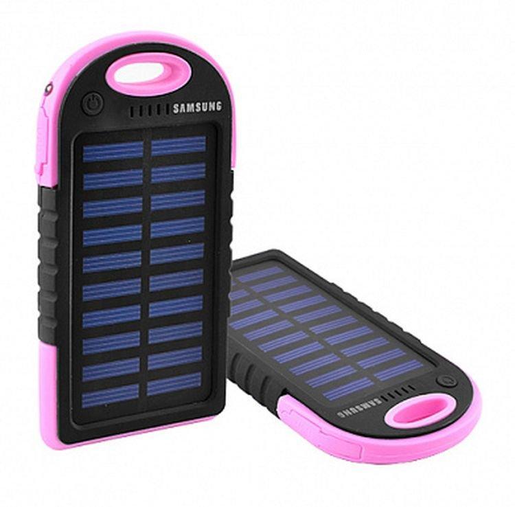 Солнечное портативное зарядное Power Bank Samsung, 8000 mah