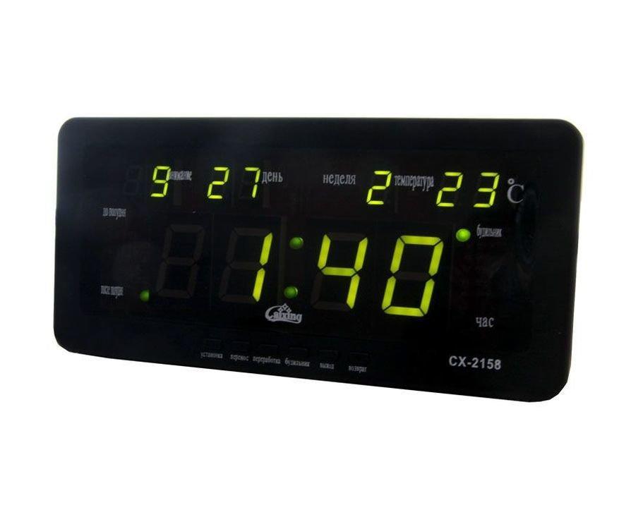 Електронні годинники Caixing cx-2158, green підсвічування
