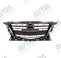 Решетка радиатора Mazda 3 2013-2016 черн.глянц. с отв. под молдинг 184424999 BHN150712A Код товара: 3811629