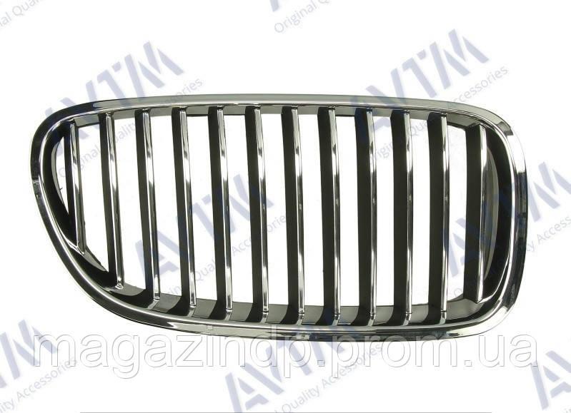 Решетка радиатора BMW 5 (F10) 2010-2013 правая хром, ребра черн. с хром. торец. 181420992 Код товара: 3811661