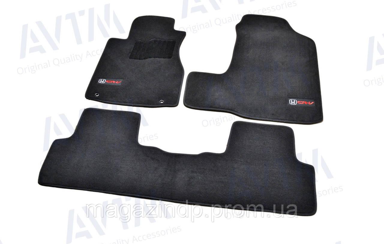 Коврики в салон ворсовые для nda CR-V (2006-2011) /Чёрные Premium BLCLX1206 Код товара: 3815835