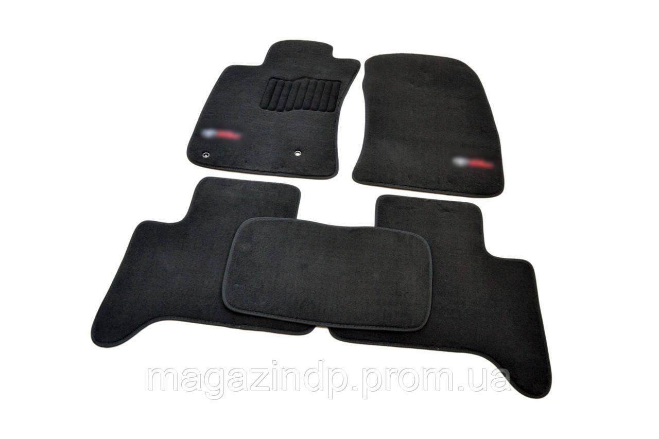 Ворсовые коврики в салон для Toyota Land Prado 120 (2003-2009) /Чёрные Premium BLCLX1636 Код товара: 3816358