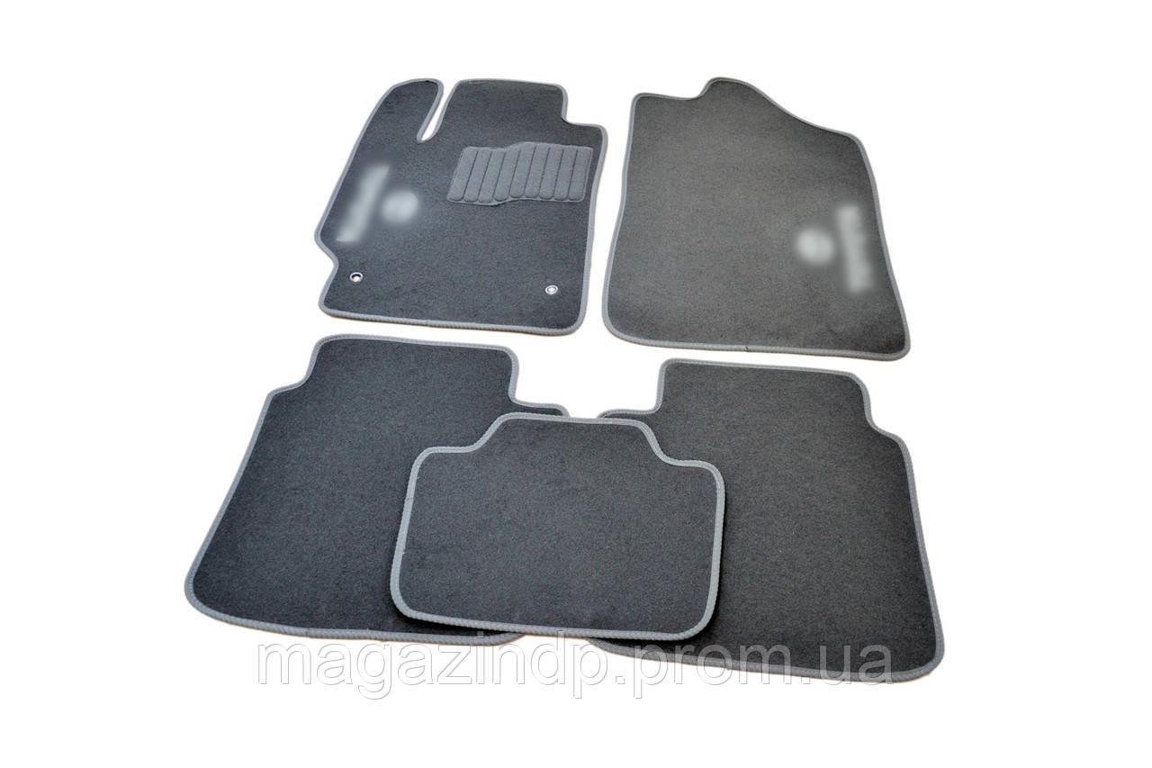 Ворсовые коврики в салон для Toyota Camry (2006-2011) /Серые 5шт Код товара: 3816359