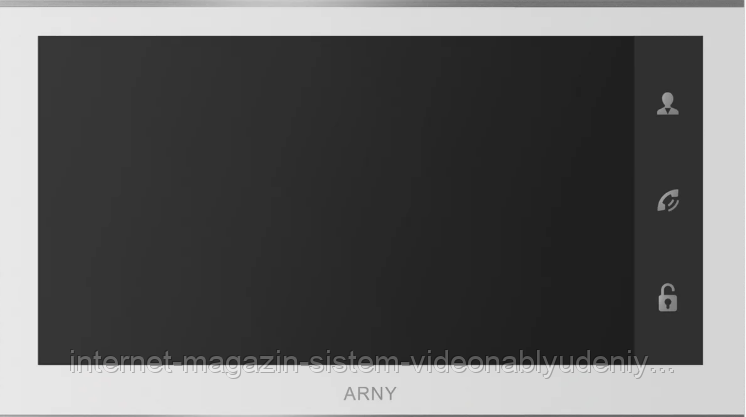 Видеодомофон  ARNY AVD-730 2MPX Wi-Fi с детектором движения   Белый (arny-000136)