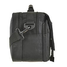 Мужская сумка горизонтальная Wallaby 30х23х17  цвет чёрный, ткань «Кордура»  в2425ч, фото 3